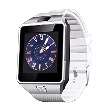 MP power @ Plata Bluetooth Reloj Inteligente Reloj de Muñeca Smart watch con Pantalla táctil Cámara
