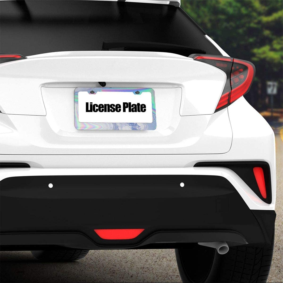 4 Holes and Screws Novelty Car Tag Frame Humor Funny License Plate Cover Holder for US Vehicles MEVZKTN 12x 6 Tag Holder Black License Plate Frame