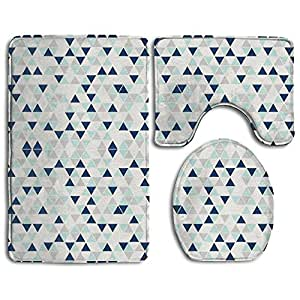 Amazon Com Triangles Mint Navy And Gray 3 Piece