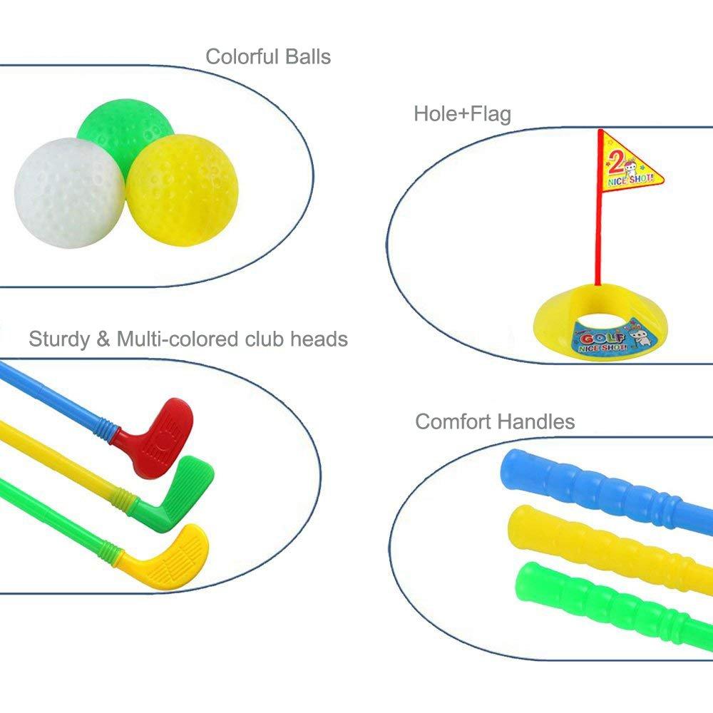 Amazon.com: ORZIZRO - Juego de palos de golf de plástico ...