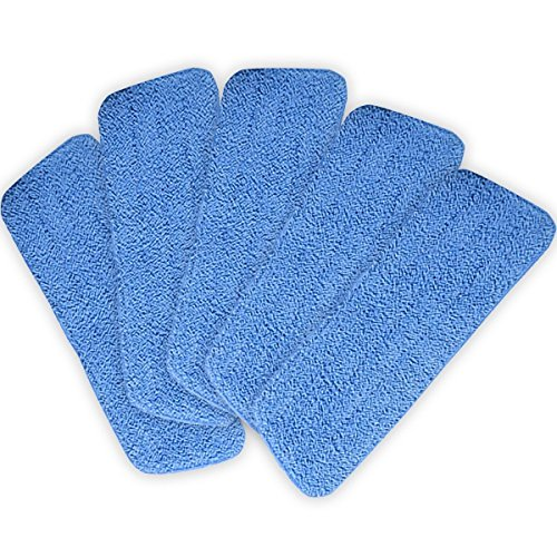 [Blue Lot of 5 ++ ++ Microfiber Mop Pads Head Wet Dry Mops Refill For 15