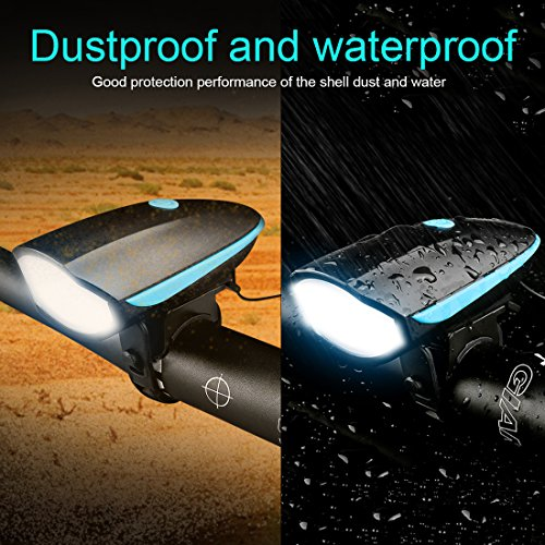 LETOUR Bike Light Loud Bike Horn, Rechargeable Bicycle Light Waterproof Cycling Lights, Bicycle Light Front Loud Sound Siren, 3 Lighting Modes 5 Sounds by LETOUR (Image #4)