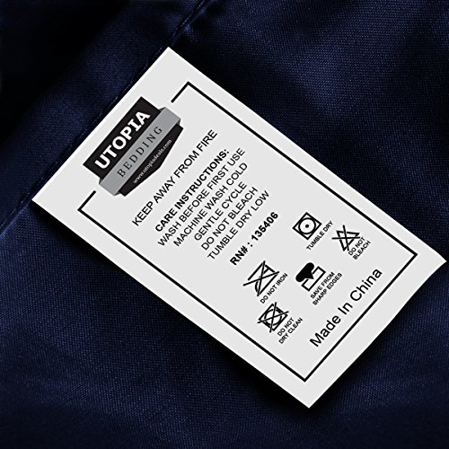 Utopia Bedding smooth applied Microfiber bed sheet Pillowcase Sets