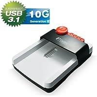 FANTEC hdd-sneaker 2 – Base de conexión para discos duros SATA de 2,5 (6,35cm) y 3,5 (8,89cm), USB 3.1 SUPERSPEED+, con software de copia de seguridad, blanco