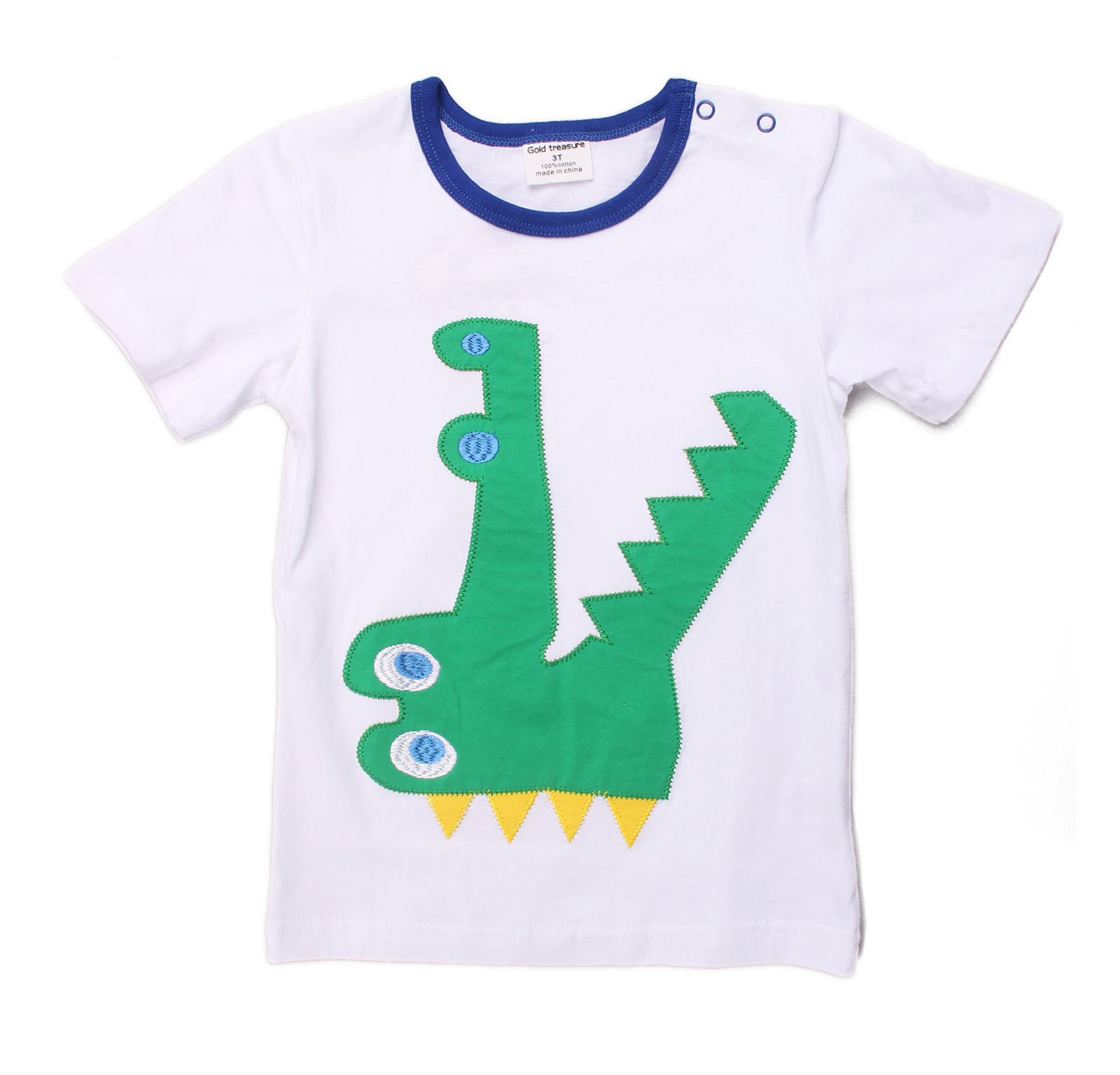 Dizoon Little Boys Tee Alligator Summer Tops Toddler Crew Neck Casual T-Shirts