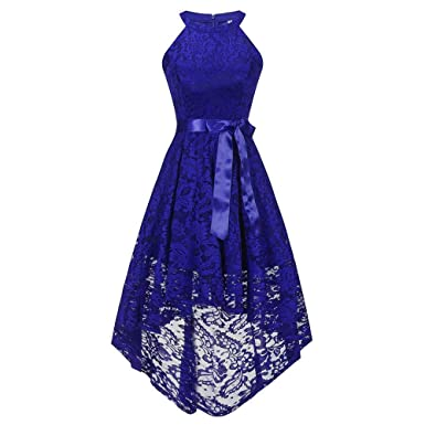 Vibola Dress Women, Vintage Sleeveless Formal Ball Gown Dress (S, Blue)