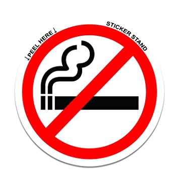 No Smoking Sign Sticker