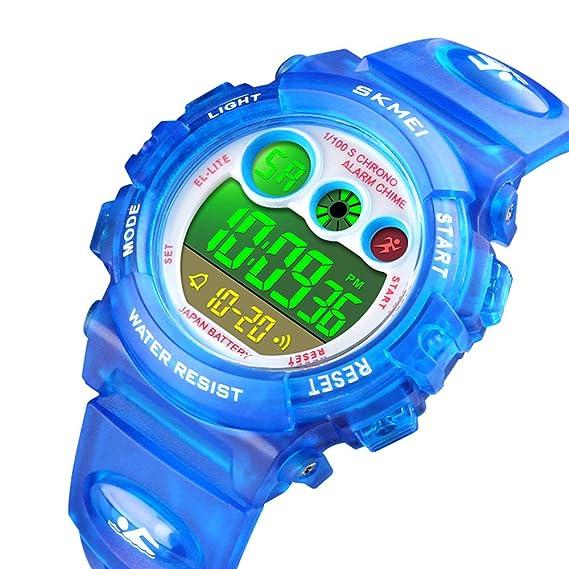 Reloj Digital para niños con LED y Correa de muñeca para Deportes al Aire Libre,
