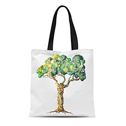 699413f3cb8a Amazon.com: Semtomn Canvas Tote Bag Shoulder Bags Green Olive of ...
