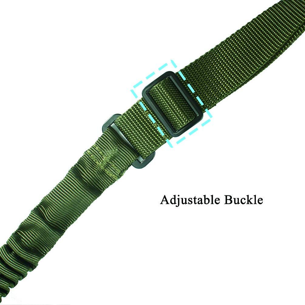 negro Oleader 1 punto Rifle Sling multiusos pistola ajustable correa de hombro cuerda con cord/ón el/ástico para la caza Camping Deportes al aire libre