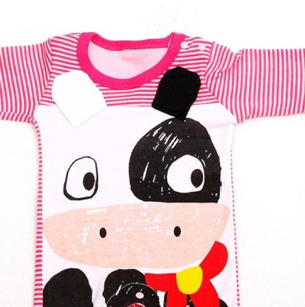 Pooqdo 1Set Newborn Baby Romper+Hat Jumpsuit Cotton Blend Bodysuit Clothes
