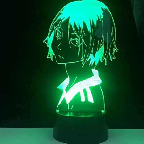 3d Illusion Lamp Kenma Kozume Anime Haikyuu Profile Led Anime Lamp Japanese Anime Remote Control Base Table Lamp Dropshipping Lamp Led Night Light For Kids 7 Color Touch Gift Hoichan Amazon Com
