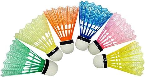 6Pcs Badminton Bubble Foam Ball Plastic Head Sports Equipment Useful Colours UK