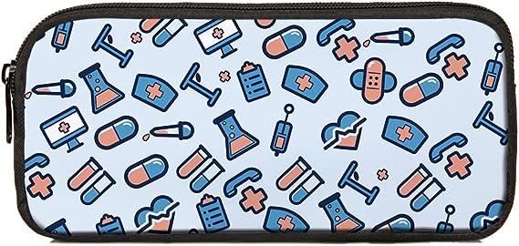 Nopersonality - Estuche escolar divertido para niños y estudiantes, color Enfermería-2: Amazon.es: Equipaje