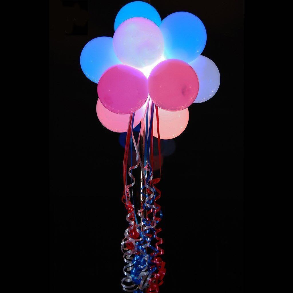32pcs Globos de Resplandor Luz LED Multicolor Intermitente de 12pulgadas...