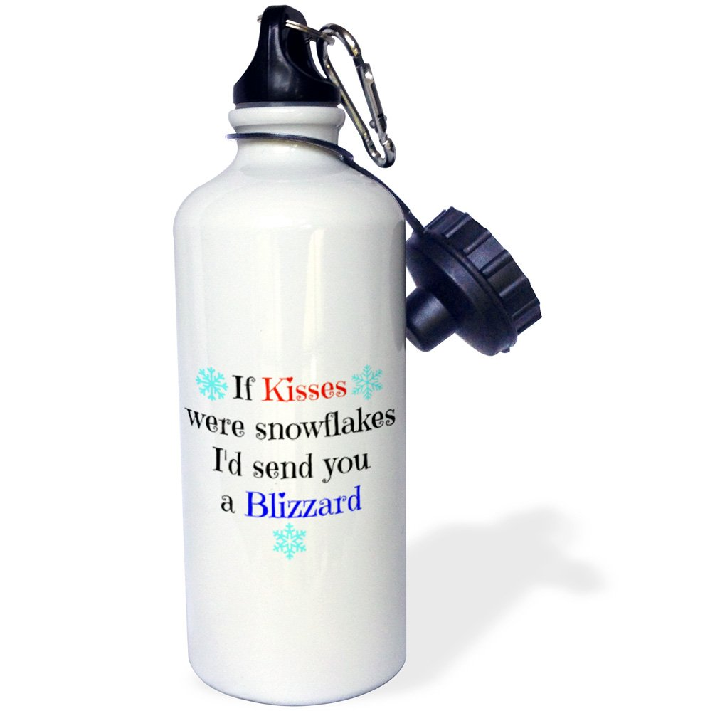 21 oz Multicolor 21oz wb/_201941/_1 3dRose Kisses were Snowflakes Id Send You a Blizzard-Sports Water Bottle