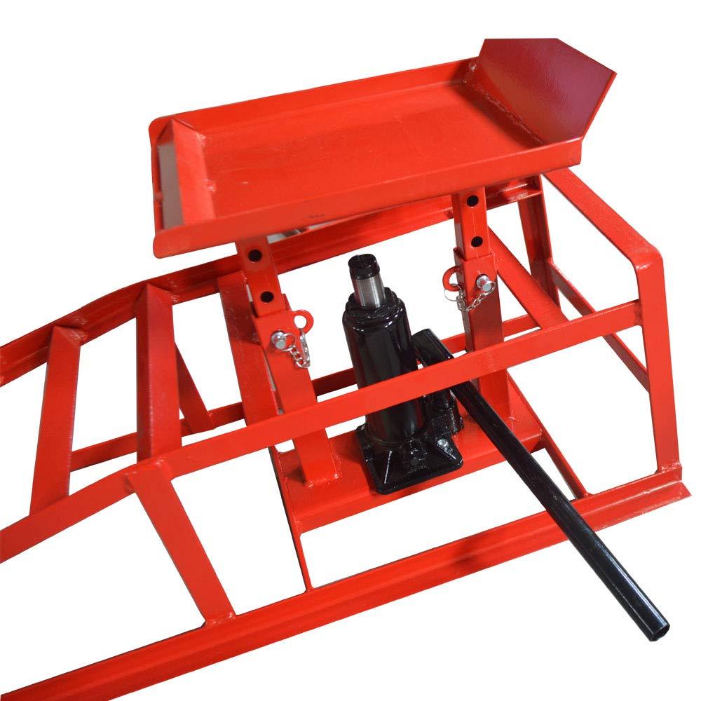 TECHTONGDA 2pcs Car Lift Service Ramps Heavy Duty for Vehicle Auto Truck Garage Repair Steel Frame