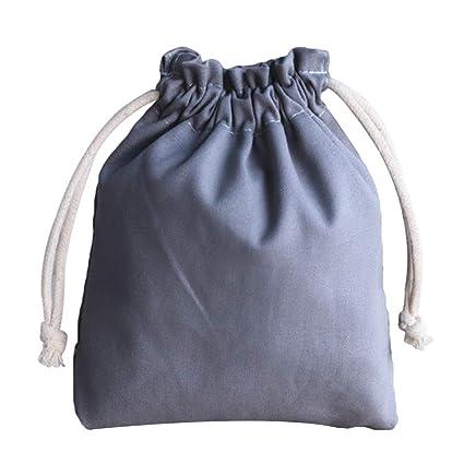 Kentop - Bolsa de tela con cordón para joyas, bolsa de tela vintage, color sólido, bolsa para bodas, fiestas, bolsas de regalo 17.5 * 20CM gris