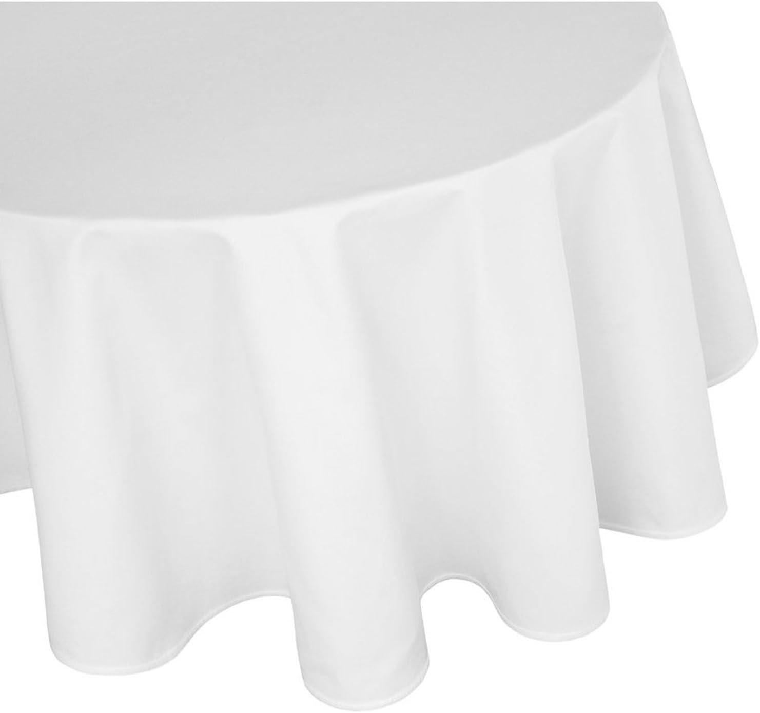 DecoHome Textil Nappe 100 /% coton damass/é avec rebord satin/é 1 x 50 x 50 cm Serviette Blanc