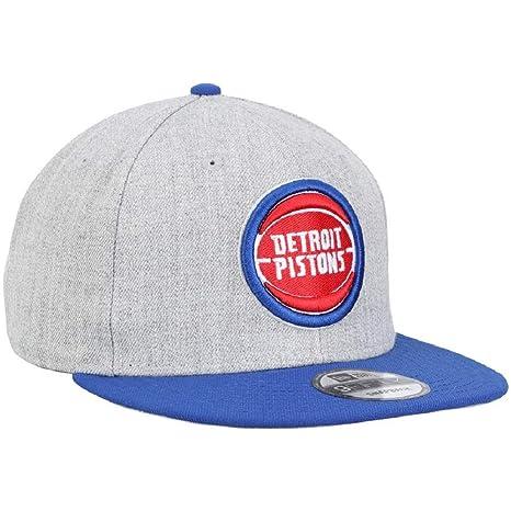 sale retailer b263a aaf65 New Era Men s Detroit Pistons Heather Gray 2TONE 9FIFTY Snapback Adjustable  Hat at Amazon Men s Clothing store