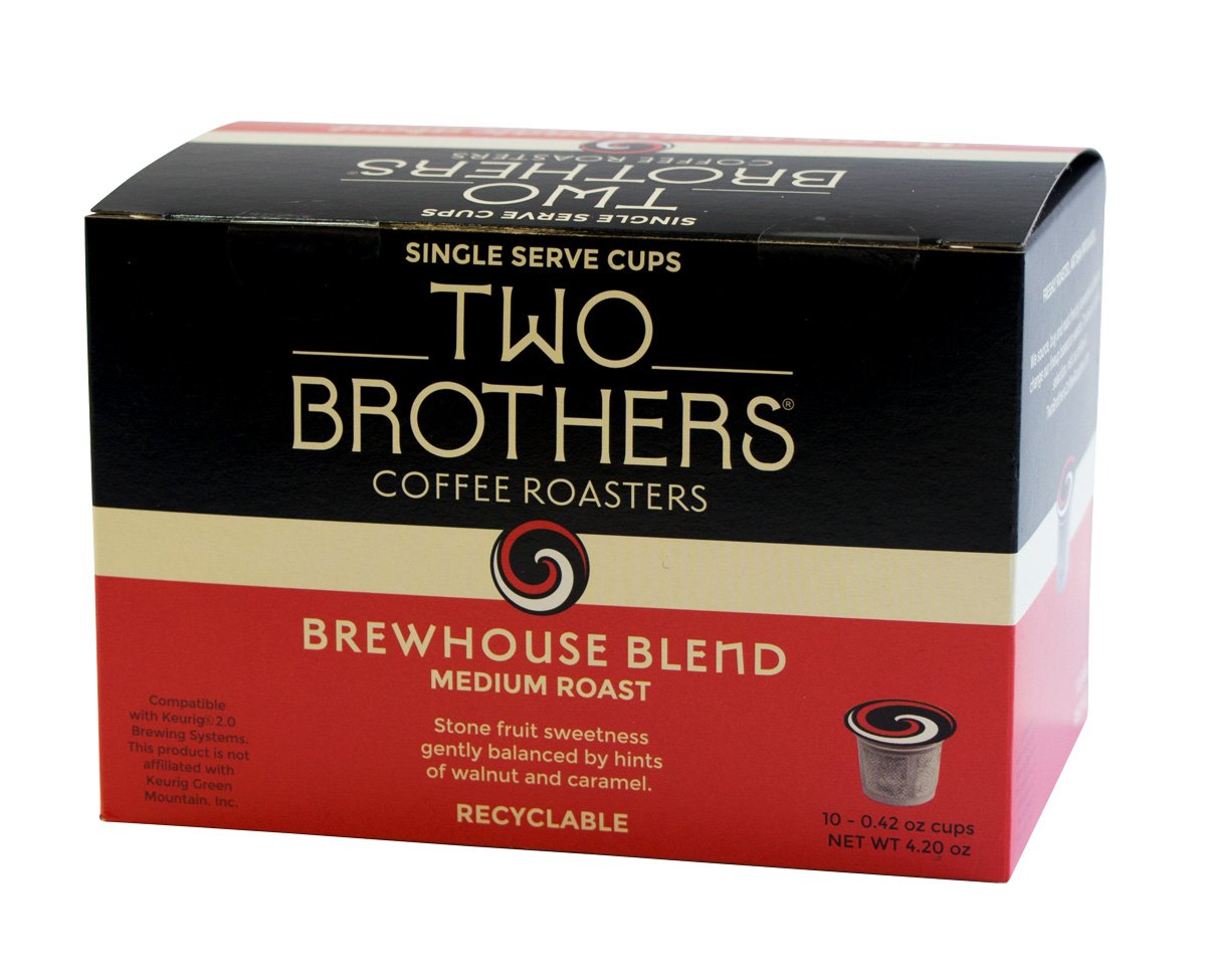 Two Brothers Coffee Roasters Brewhouse Blend - 50 ct Single Serve Cups