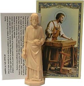 All Souls Saint Joseph Statue Home Seller Kit Reusable with Prayer Card and Instructions vendedor de casas de san josé