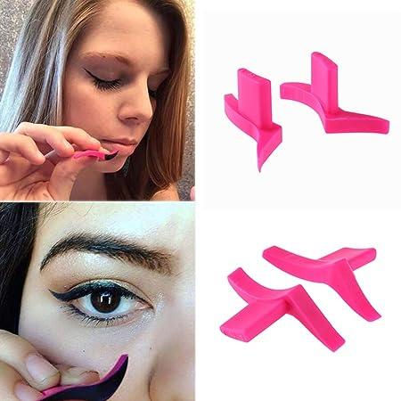 Gowind6 - Plantilla para delineador de Ojos, diseño de alas, 2 Unidades: Amazon.es: Productos para mascotas