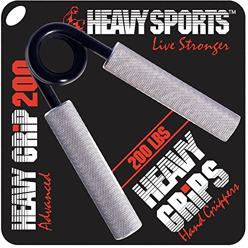 Heavy Grips - 200 lbs Resistance - Advanced - Grip Strengthener - Hand Exerciser - Hand Grippers for Beginners to Professionals