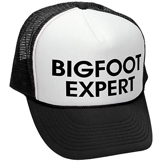 The Goozler Bigfoot Expert - Sasquatch Funny Squatchin - Adult Trucker Cap  Hat c490e926802