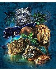 "Diy 5D Diamond Painting Cross Stitch""Lion Tiger Leopard Animal"" Diamond Embroidery Sewing Pattern Rhinestone Bag Gift 40x50cm"