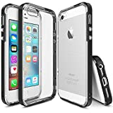 iPhone SE / 5S / 5 Case, Ringke [FRAME Series] Reinforced Dual-Layered Guard Bumper [SF Black] Resilient Work-Horse Incomparable Contour Patented Exclusive Interlocking Clasp Cover for Apple iPhone SE