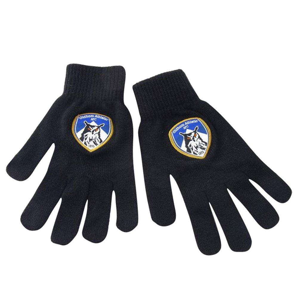 Juniors Stitched Crest Warm Knit Gloves Souvenirs Accessories Kids)