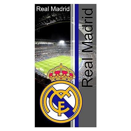 Real Madrid RM11. Toalla de baño y playa de Algodón 100% de 150x75 cm