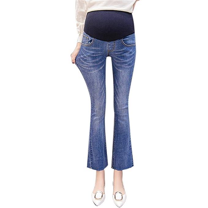Amazon.com: Pantalones vaqueros de maternidad para mujer ...