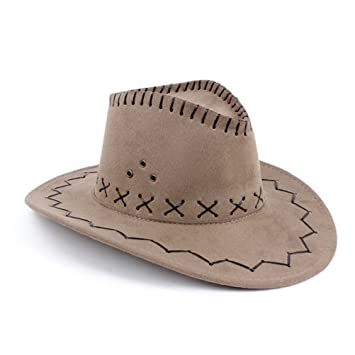 HMILYDYK Cowboy Hat Fancy Dress Accessory Wide Brim Stetson Cowgirl Hats  Wild West  Amazon.ca  Toys   Games 9544270c6cb1