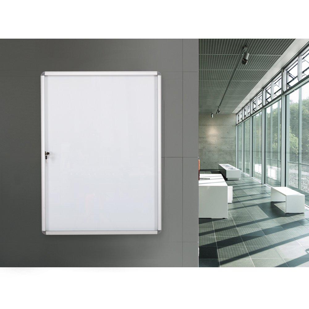 9xA4 tablero de anuncios magnético de la pizarra del tablero de anuncios del tablero de anuncios Lockable al aire libre 98x72cm