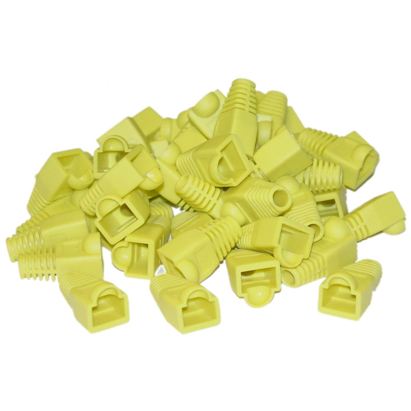 Yellow 50 Pieces Per Bag GOWOS 10 Pack RJ45 Strain Relief Boots