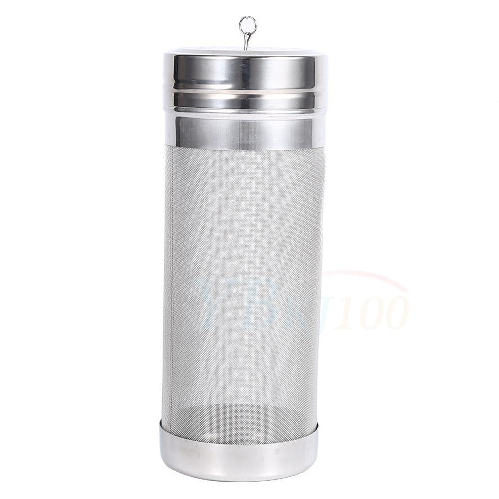 Dry Hopper Beer Filter - PAMISO 300 Micron Mesh Stainless Steel Dry Hopper Brewing Filter for Cornelius Kegs Corny Keg Homebrewing