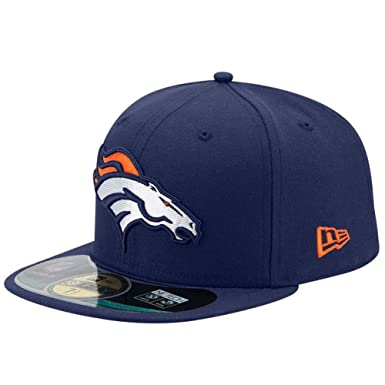 competitive price 3af5c f6f98 Amazon.com  New Era NFL On Field Denver Broncos Cap 59fifty Basic Fitted  Basecap Herren Mens  Clothing