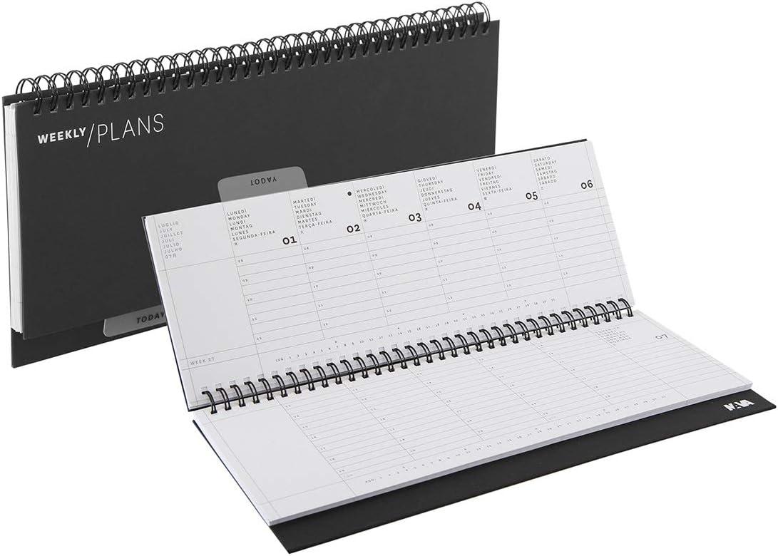 Agenda 2020 de escritorio semanal con espiral, varios colores ...