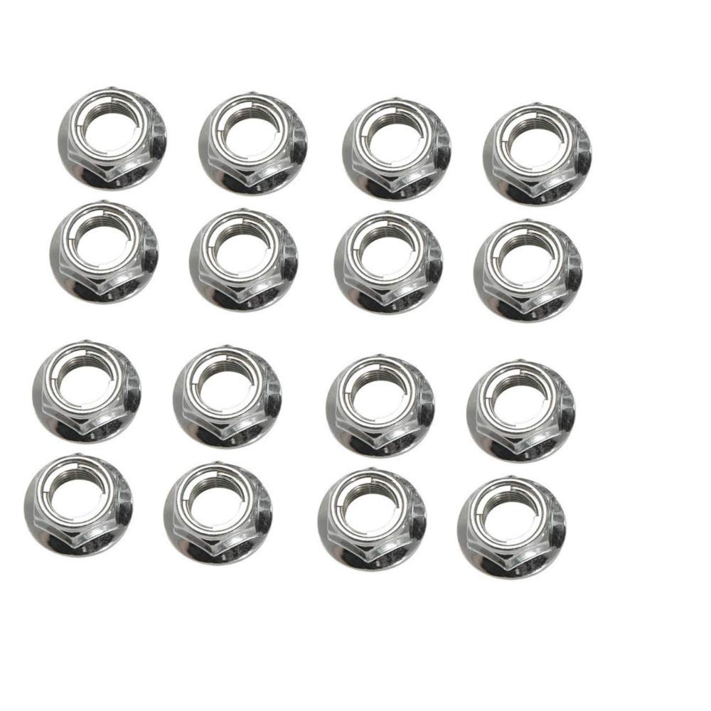 Flange Locking Lug Nut 10mm x 1.25mm Thread Pitch (16 pack) for Kymco MXU 500 2010-2014 Tusk Racing