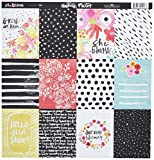 Bella Blvd 1179 Illustrated Faith She Blooms Cardstock (25 Sheet Per Pack), 12'' x 12'', 3 x 4's, Assorted