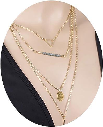 collier perle triangle