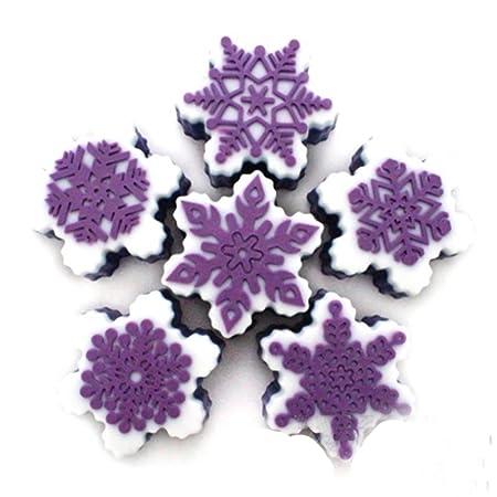 LeisialTM Molde de Silicona Suve Forma en Copos de Nieve de Navidad Creativo para Pastel Jabones Hechos a Mano Gelatina Velas Cookie Budín Chocolate DIY ...