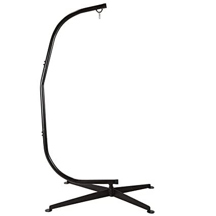 Amazon.com : C-Shape Black Steel Hammock Chair Stand : Hammock Chair ...