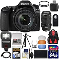 Canon EOS 80D Wi-Fi Digital SLR Camera & EF-S 18-135mm IS with 70-300mm IS USM Lens + 64GB Card + Battery + Backpack + Filters + Tripod + Flash Kit Benefits Review Image
