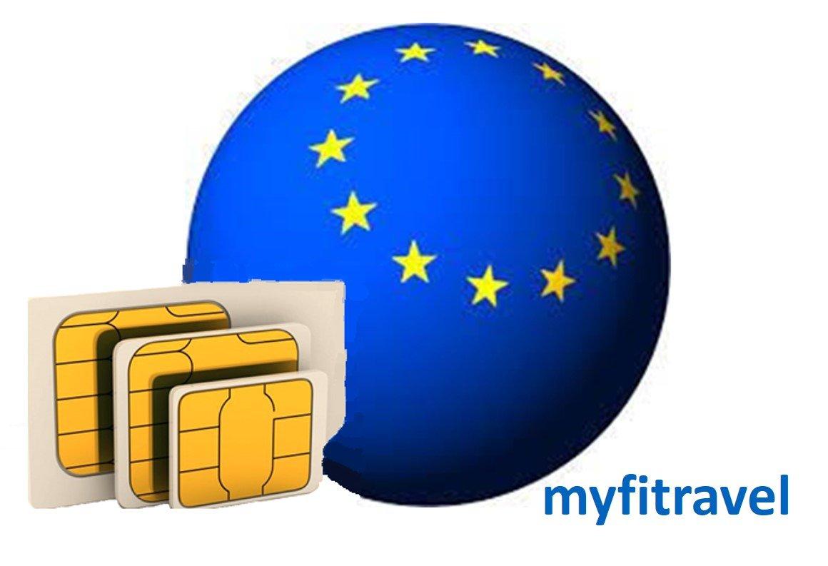 myfitravel Tarjeta SIM de datos para Europa (UE30GB): Amazon.es ...