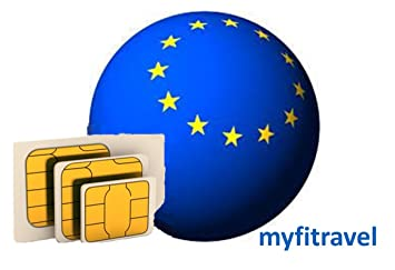 myfitravel Tarjeta SIM de datos para Europa (UE30GB): Amazon ...