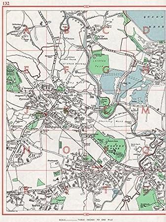 weybridge surrey map
