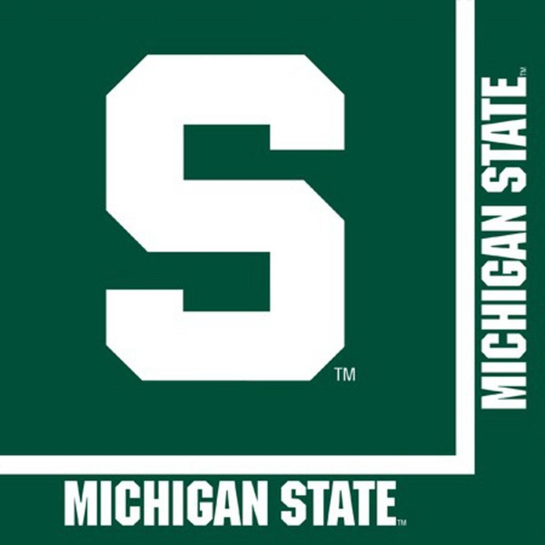 パックの240 NCAA Michigan State Spartans 2-ply Tailgating Party Lunch Napkins   B07FWXVPTS